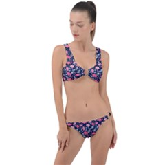 Flamingo Ring Detail Crop Bikini Set by olgart
