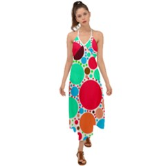 Dots Halter Tie Back Dress