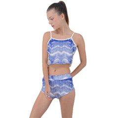 Tie Dye Shibori Summer Cropped Co-ord Set by olgart