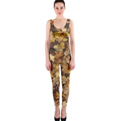 Late October Leaves 3 One Piece Catsuit by bloomingvinedesign
