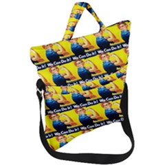 We Can Do It Fold Over Handle Tote Bag by ArtworkByPatrick