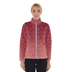 Red Gold Art Decor Winter Jacket