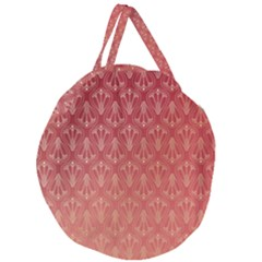 Red Gold Art Decor Giant Round Zipper Tote