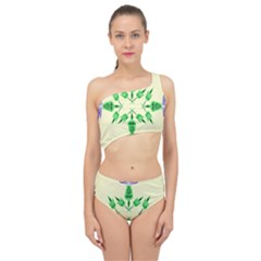 Thistle Flower Purple Thorny Flora Spliced Up Two Piece Swimsuit by Bajindul