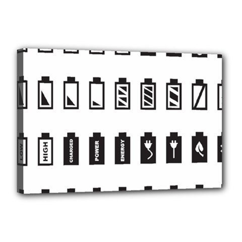 Battery Icons Charge Canvas 18  X 12  (stretched)