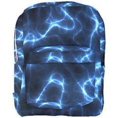 Lightning Electricity Pattern Blue Full Print Backpack