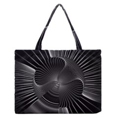 Lines Rays Background Light Zipper Medium Tote Bag by AnjaniArt