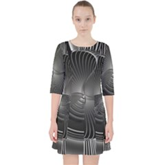 Lines Rays Background Light Pocket Dress