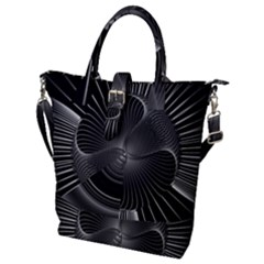 Lines Rays Background Light Buckle Top Tote Bag