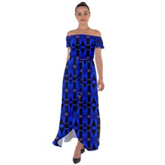 Abstract -a-2 Off Shoulder Open Front Chiffon Dress