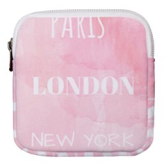 Paris, London, New York Mini Square Pouch