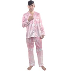 Paris, London, New York Men s Satin Pajamas Long Pants Set by Lullaby