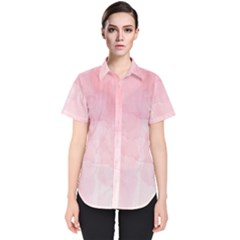 Pink Blurry Pastel Watercolour Ombre Women s Short Sleeve Shirt by Lullaby