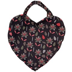 Zappwaits Flowers Giant Heart Shaped Tote by zappwaits