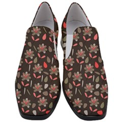 Zappwaits Flowers Women Slip On Heel Loafers by zappwaits