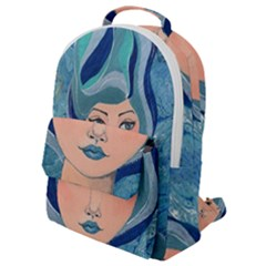 Blue Girl Flap Pocket Backpack (small) by CKArtCreations