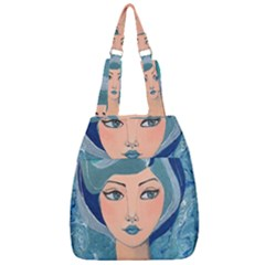 Blue Girl Center Zip Backpack by CKArtCreations