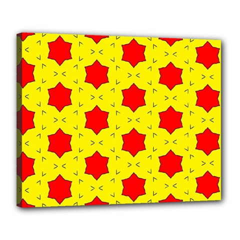 Pattern Red Star Texture Star Canvas 20  X 16  (stretched) by Simbadda