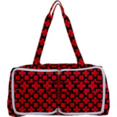 Pattern Red Black Texture Cross Multi Function Bag