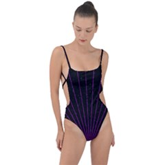 Laser Show Festival Tie Strap One Piece Swimsuit