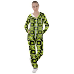 Green Pattern Square Squares Women s Tracksuit