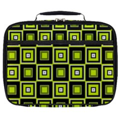 Green Pattern Square Squares Full Print Lunch Bag