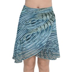 Wave Concentric Waves Circles Water Chiffon Wrap Front Skirt