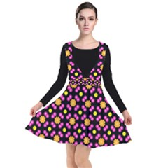 Pattern Colorful Texture Design Plunge Pinafore Dress