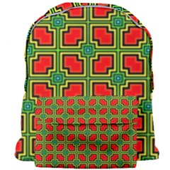 Pattern Modern Texture Seamless Red Yellow Green Giant Full Print Backpack