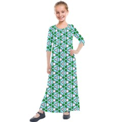 Background Texture Background Pattern Kids  Quarter Sleeve Maxi Dress by Simbadda