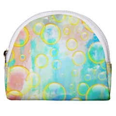 Bubbles Blue Floating Air Horseshoe Style Canvas Pouch by Simbadda