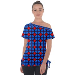 Pattern Seamless Design Texture Tie Up Tee