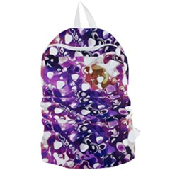 Paint Texture Purple Watercolor Foldable Lightweight Backpack