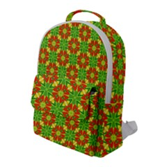 Pattern Texture Christmas Colors Flap Pocket Backpack (large)