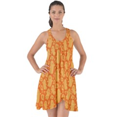 Halloween Background Show Some Back Chiffon Dress