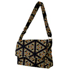 Pattern Stained Glass Triangles Full Print Messenger Bag by Simbadda