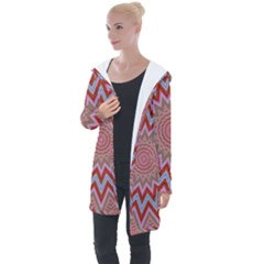 Abstract Art Abstract Background Longline Hooded Cardigan