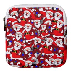 Nicholas Santa Christmas Pattern Mini Square Pouch by Simbadda