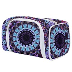 Kaleidoscope Shape Abstract Design Toiletries Pouch