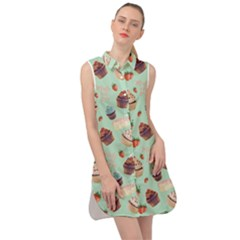 Sweet Stuff Sleeveless Shirt Dress by Lotus