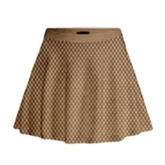 Paper Texture Background Mini Flare Skirt