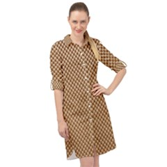 Paper Texture Background Long Sleeve Mini Shirt Dress by HermanTelo