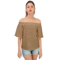Paper Texture Background Off Shoulder Short Sleeve Top