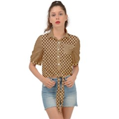 Paper Texture Background Tie Front Shirt