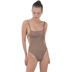 Paper Texture Background Tie Strap One Piece Swimsuit by HermanTelo