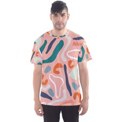 Organic Forms And Lines Seamless Pattern Men s Sports Mesh Tee