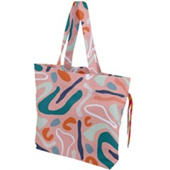 Organic Forms And Lines Seamless Pattern Drawstring Tote Bag
