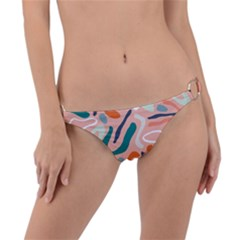 Organic Forms And Lines Seamless Pattern Ring Detail Bikini Bottom