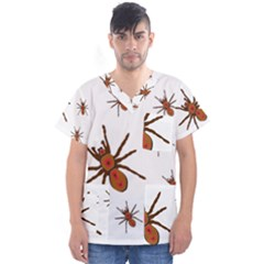Insect Spider Wildlife Men s V Neck Scrub Top