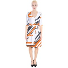 Abstract Art Pattern Wrap Up Cocktail Dress